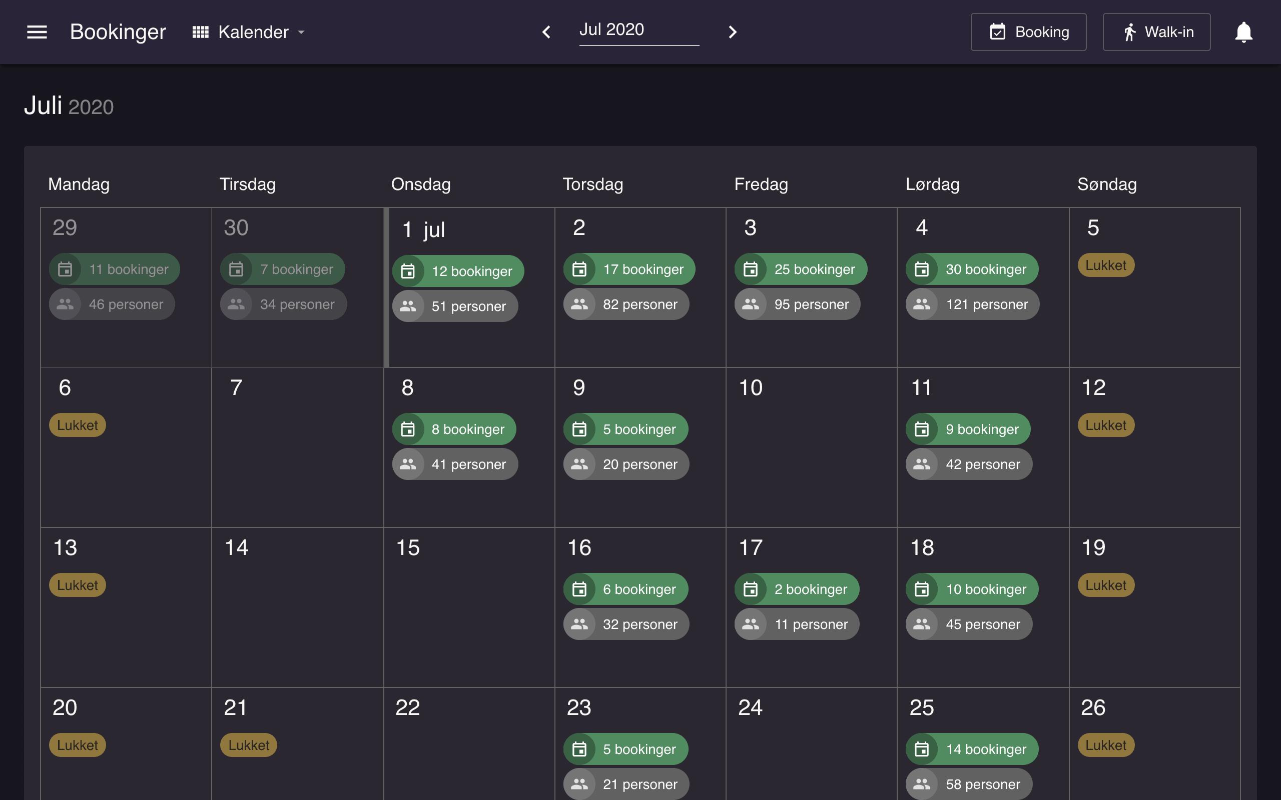 Danish resOS Kalender