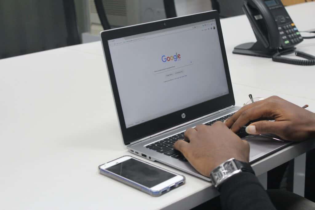 Google søgning efter restaurant