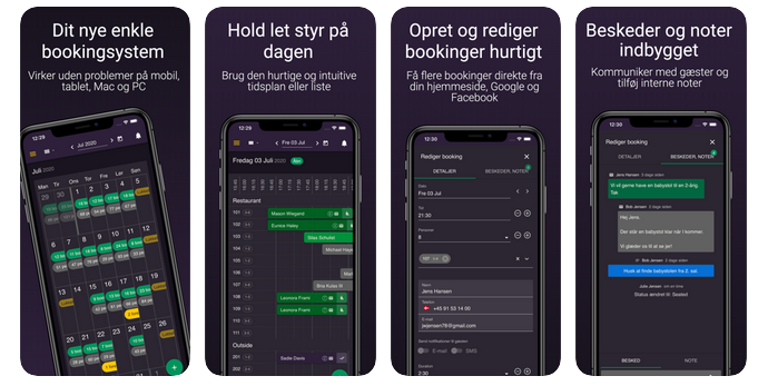 resOS' reservationssystem vises på som app på telefoner