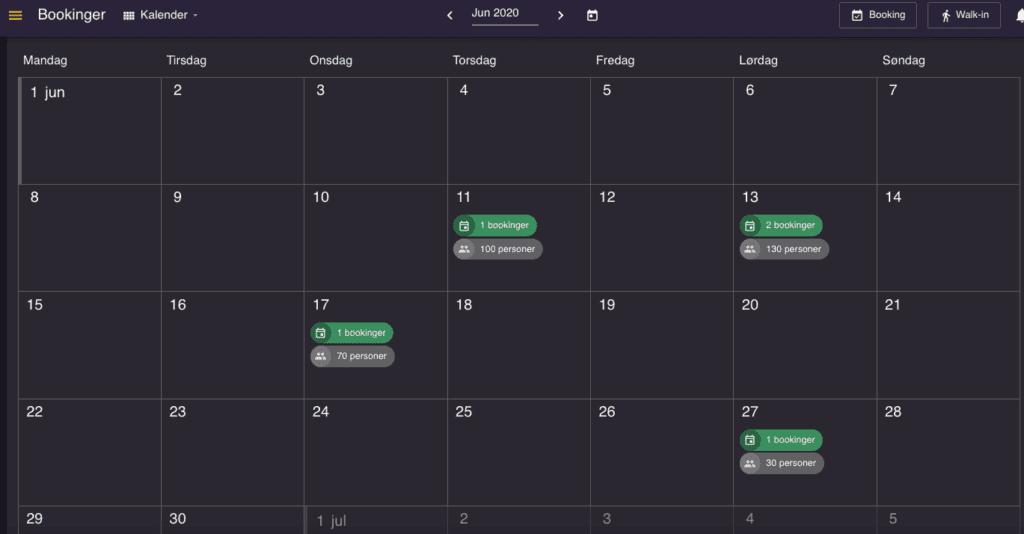 reservationssystem Kalender