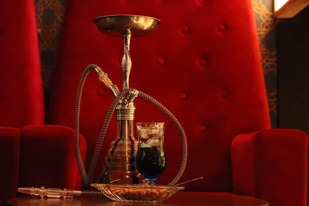 A picture of a shisha pipe at a shisha café