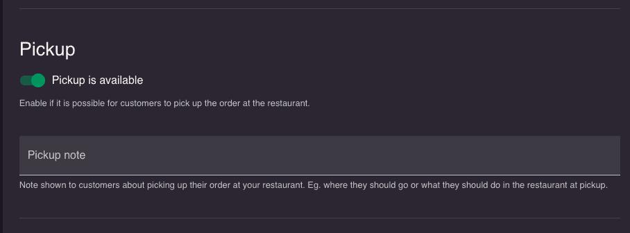 restaurant shop in resOS' restaurant system