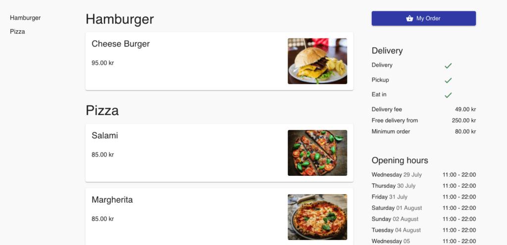 Takeaway system for restauranter