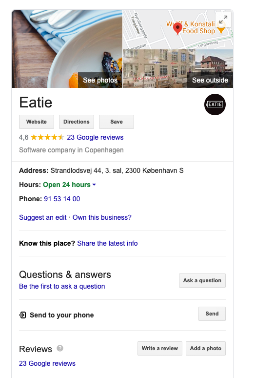 Google My Business for making your restaurant more visible