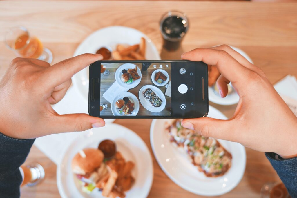 Taking a picture of food