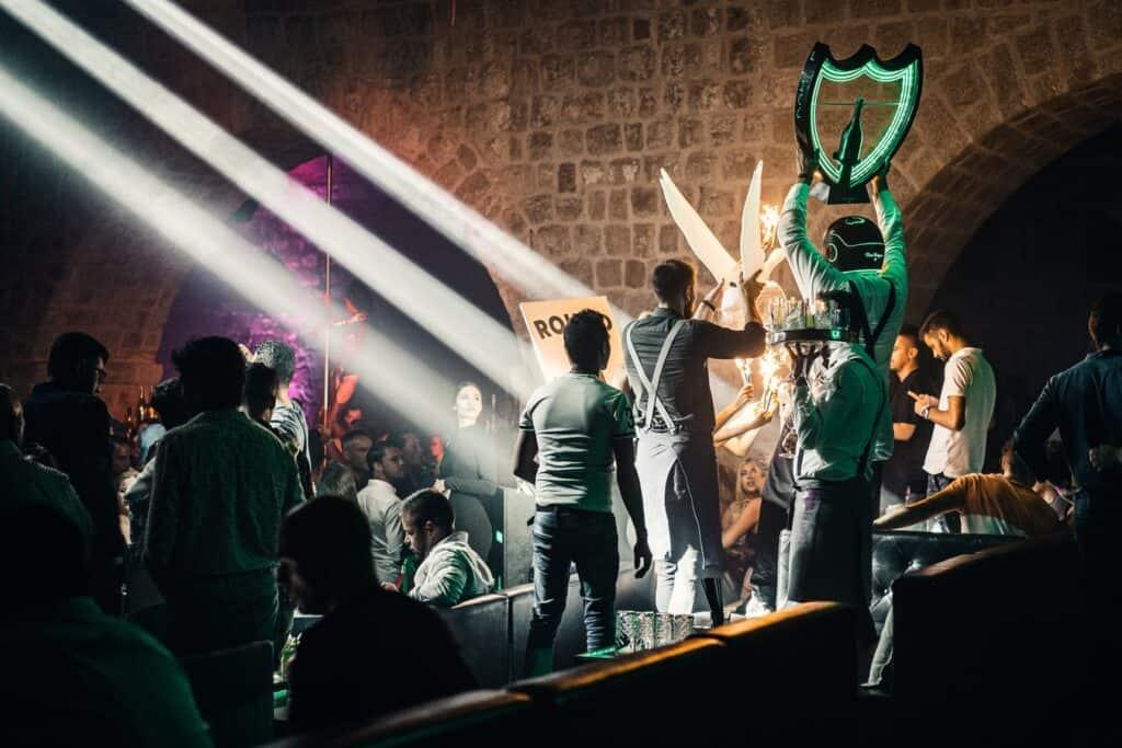 VIP-table at a nightclub