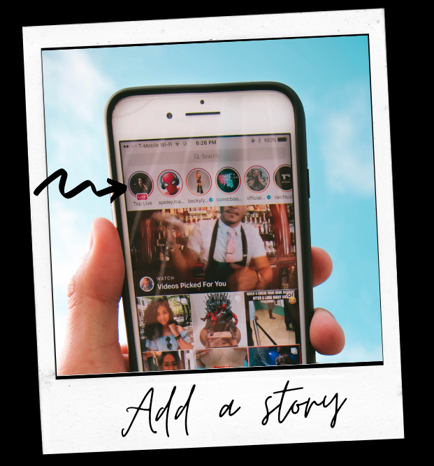 example of how restaurants can use Instagram stories and how to add a story