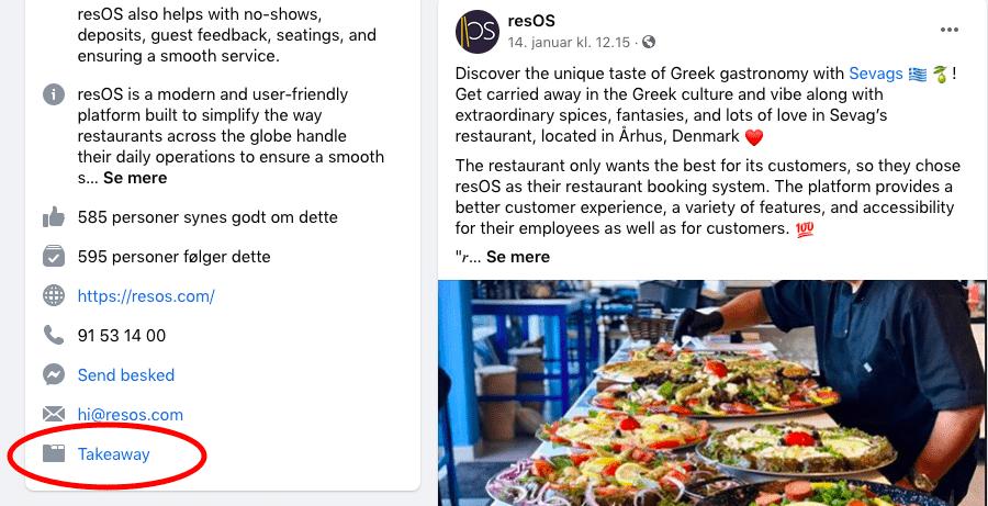 Facebook site example