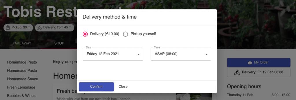 user-friendly ordering platform